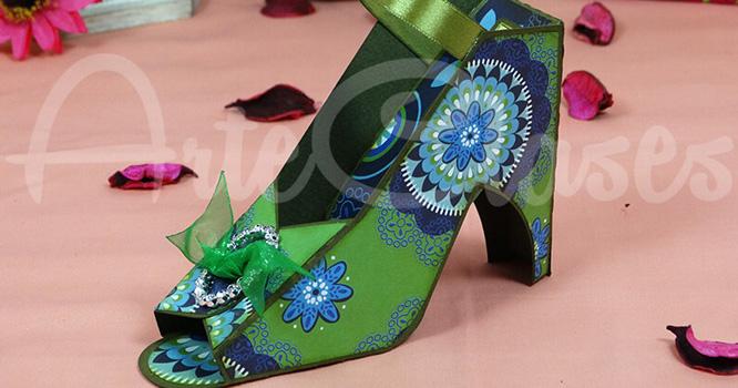 Zapato Jade (cartulina y papel)