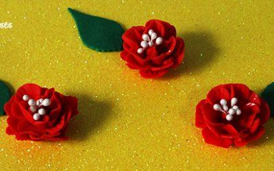 Porcelana Fría Flor Roja